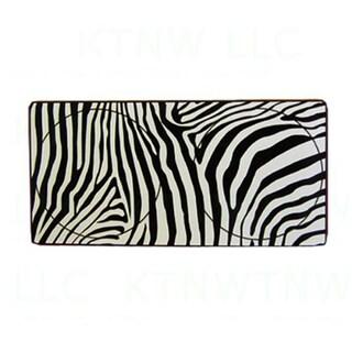 Zebra Print Jumbo Size Spring Loop Collapsilbe Auto Sunshade