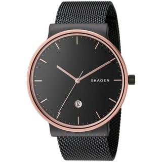 Skagen Men's SKW6296 'Ancher' Black Stainless Steel Watch