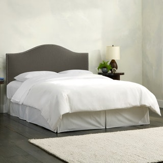 Skyline Furniture Linen Slate Nail Button Headboard