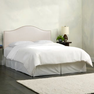 Skyline Furniture Linen Talc Nail Button Headboard
