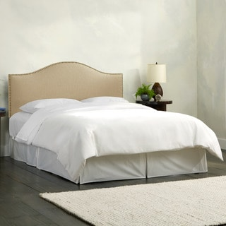 Skyline Furniture Linen Sandstone Nail Button Headboard