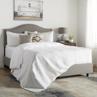 Skyline Furniture Linen Grey Nail Button Bed