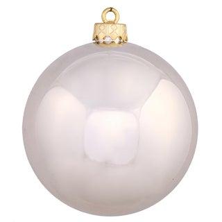 Champagne Plastic 8-inch Shiny Ball Ornament