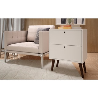 Manhattan Comfort Taby 2-Drawer Side Table