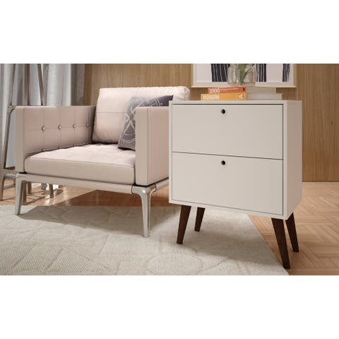 Accentuations by Manhattan Comfort Taby 2-Drawer Side Table