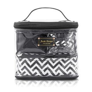 Jacki Design Contour Multicolored Plastic/Polyester 4-piece Cosmetic Toiletry Bag Set