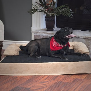 PETMAKER Orthopedic Tan/Black Memory Foam Dog Bed