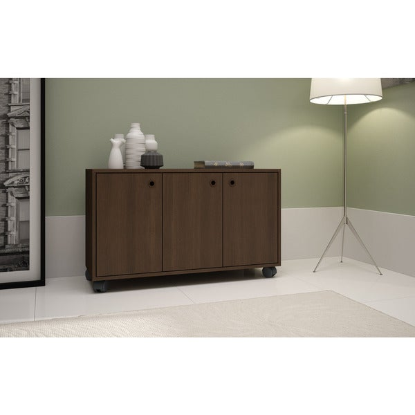 Accentuations by Manhattan Comfort Dali-3- Shelf Rolling Storage Cabinet