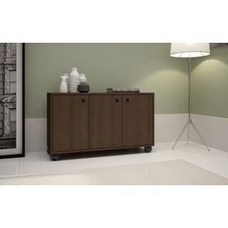Accentuations By Manhattan Comfort Dali 3  Shelf Rolling Storage Cabinet