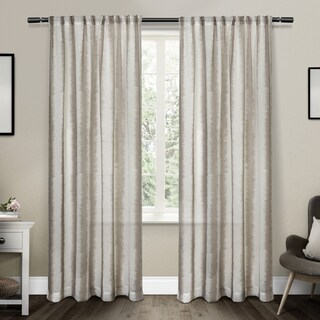 ATI Home Tokyo Ikat Belgian Linen Curtain Panel Pair with Rod Pocket (4 options available)