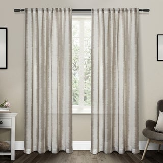 ATI Home Tokyo Belgian Linen Sheer Rod Pocket Top Curtain Panel Pair (2 options available)