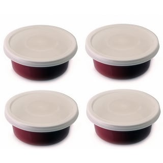 Geminis Red Stoneware 4-inch x 2-inch Round Baking Dishes (Pack of 4)
