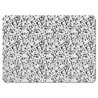 Perpetua Black and White Placemats (Set of 4)