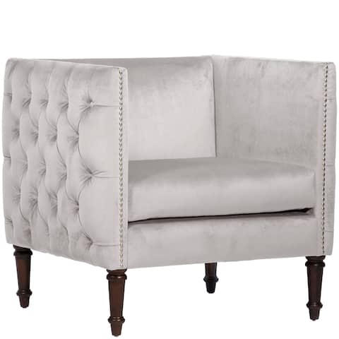 Skyline Furniture Skyline Mystere Dove Nail Button Arm Chair
