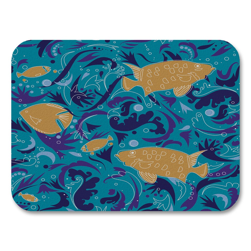 Uneekee Fish Placemats (Set of 4) (Fish Placemat), Multi ...