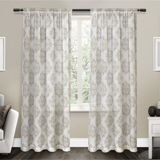ATI Home Nagano Belgian Linen Curtain Panel Pair with Rod Pocket