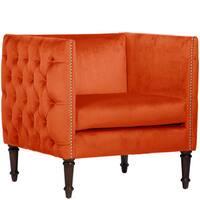 Shop Abbyson Sedona Sangria Orange Microsuede Nailhead