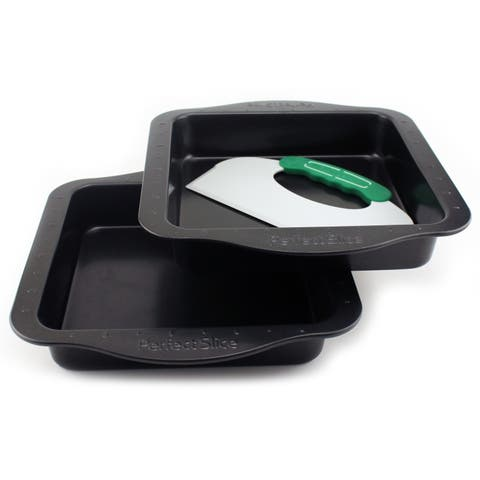 BergHOFF Perfect Slice Black Carbon Steel Cake Pan Set with Cutting Tool (3 Pieces)