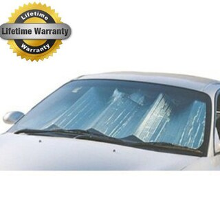 Max Reflector Premium Silvertone Jumbo Double Bubble Reflective Aluminum Coated Auto Sunshade