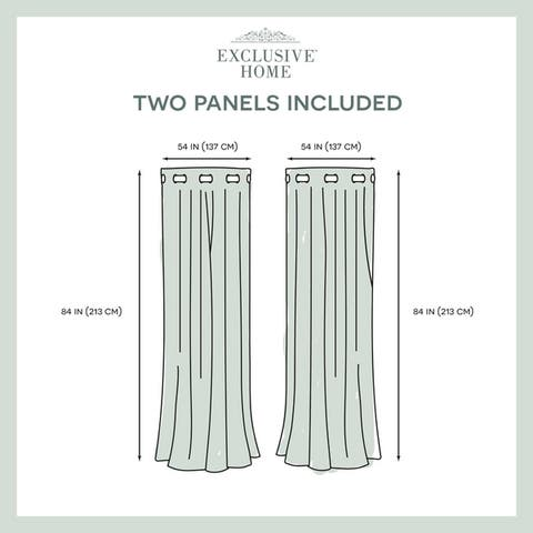 ATI Home Oakdale Textured Linen Sheer Grommet Top Curtain Panel Pair