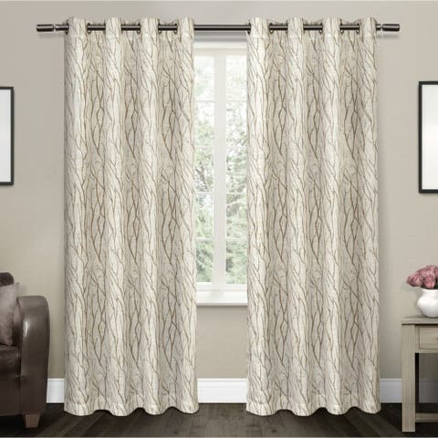ATI Home Oakdale Textured Linen Sheer Curtain Panel Pair