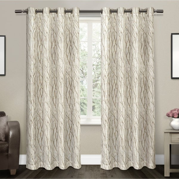 ATI Home Oakdale Textured Linen Sheer Grommet Top Curtain Panel Pair. Opens flyout.