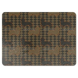 Dachshunds Master is Check Mate Placemats (Set of 4)