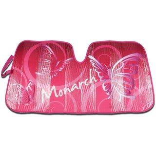 Pink Laminated Foil 'Butterfly' Car Sun Shade