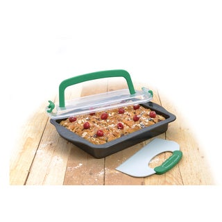BergHOFF Perfect Slice 9-inch x 13-inch Covered Cake Pan with Tool