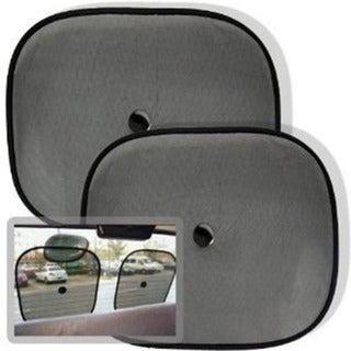 Grey Car Window Sun Shade Visors (Set of 2)