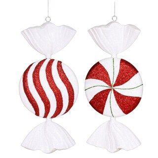 Peppermint Candy Assorted 13-inch Ornaments (Pack of 3)