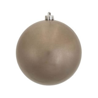 Pewter Plastic 10-inch Candy Ball Ornament