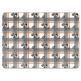 Checked Pattern with Skulls Placemats (Set of 4)