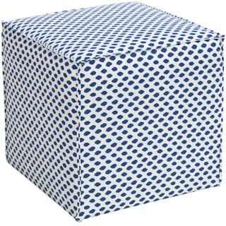 Skyline Furniture Sahara Midnight White Flax French Seam Cocktail Ottoman