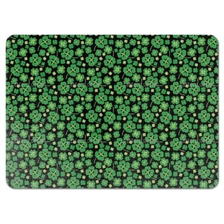 Lucky Clover on Black Placemats (Set of 4)