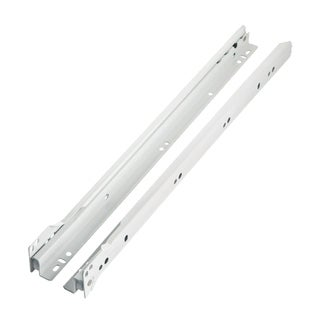 Rok Hardware Blum 230M White Metal 18-inch (17-3/4-inch) 75-pound-capacity 3/4-extension Euro Epoxy Slides (10 Pairs)