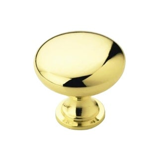 Rok Hardware Amerock Brass Finish Metal 1.25-inch Round Polished Cabinet Hardware Knob (Case of 25)