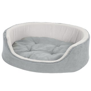 PETMAKER Cuddle Microsuede/Sherpa Fleece Round Pet Bed