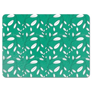White Leaves Placemats (Set of 4)