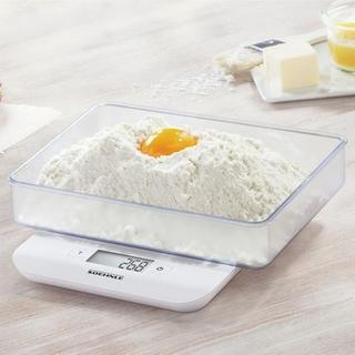 Soehnle White Plastic Compact Digital Kitchen Scale