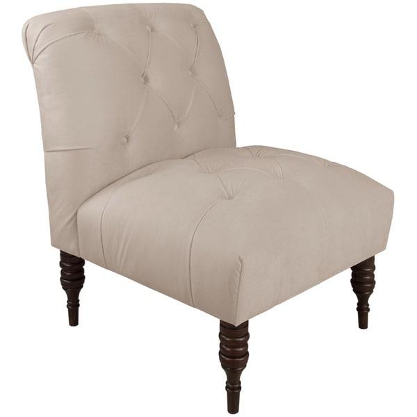 Ordinaire Skyline Furniture Skyline Regal Silver Grey Tufted Chair