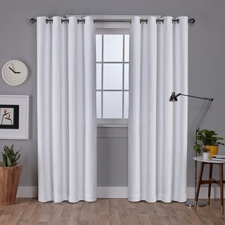 Vesta Heavy Textured Linen Woven Blackout Grommet Top Window Curtain Panel Pair