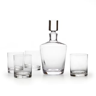 Mikasa Donovan Clear Glass 5-piece Decanter Set