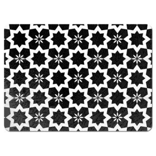 Stars Black and White Placemats (Set of 4)