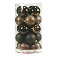 Chocolate 2.4-inch Assorted Finish Ornaments (Case of 60)