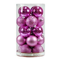 Pretty in Pink 2.4-inch Shiny Ball Ornaments (Pack of 60)