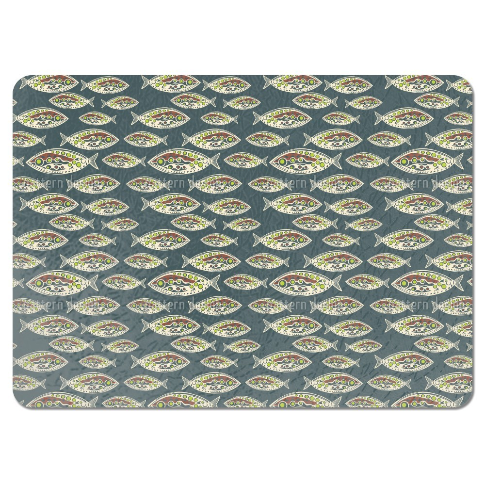 Uneekee Polynesian Fish Placemats (Set of 4) (Polynesian ...