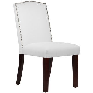 Skyline Furniture Duck White Nail Button Arched Dining Chair
