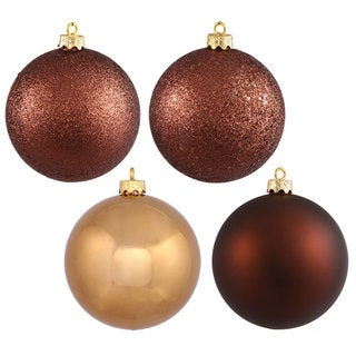 Mocha 1.6-inch Assorted Ornaments with 4 Finishes (Case of 96)