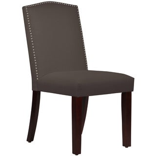 Skyline Furniture Duck Charcoal Nail Button Arched Dining Chair